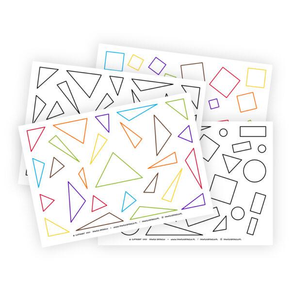 Kolorowanka figury geometryczne